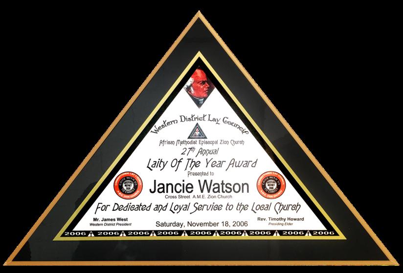 Zion Church Triangle Plaque-sml