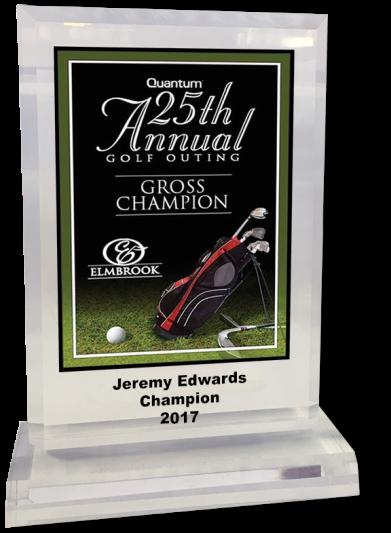acrylic golf plaque