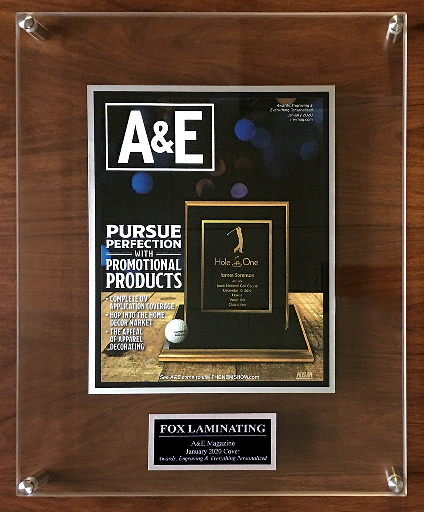 A&E FOX Mag COVER Acrylic Plaque_sml